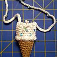 ice cream cone necklace purse