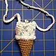 ice cream cone necklace purse
