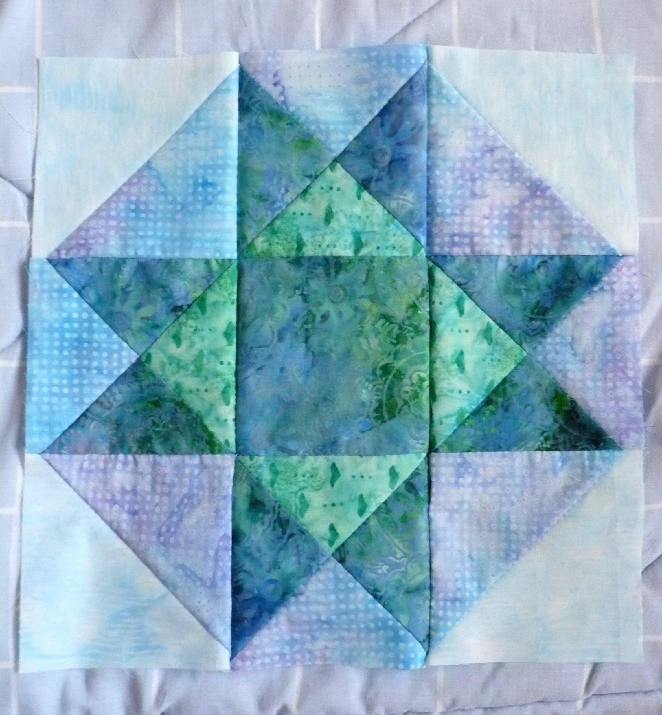 September blue batik BOM
