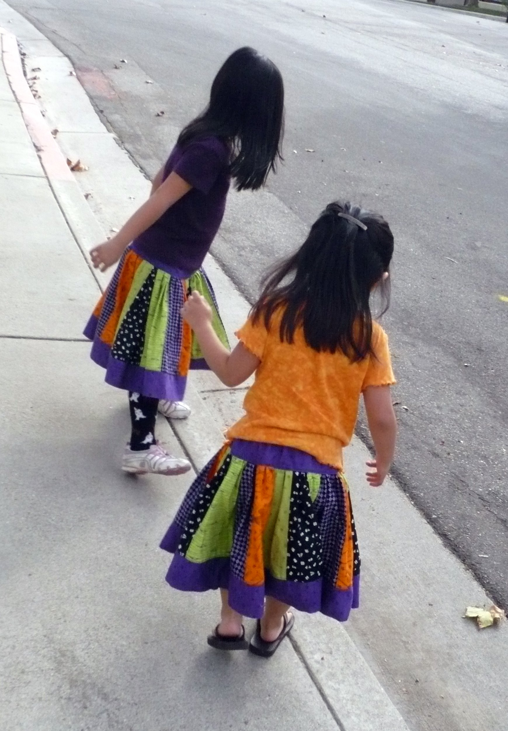 girly skirts curbside