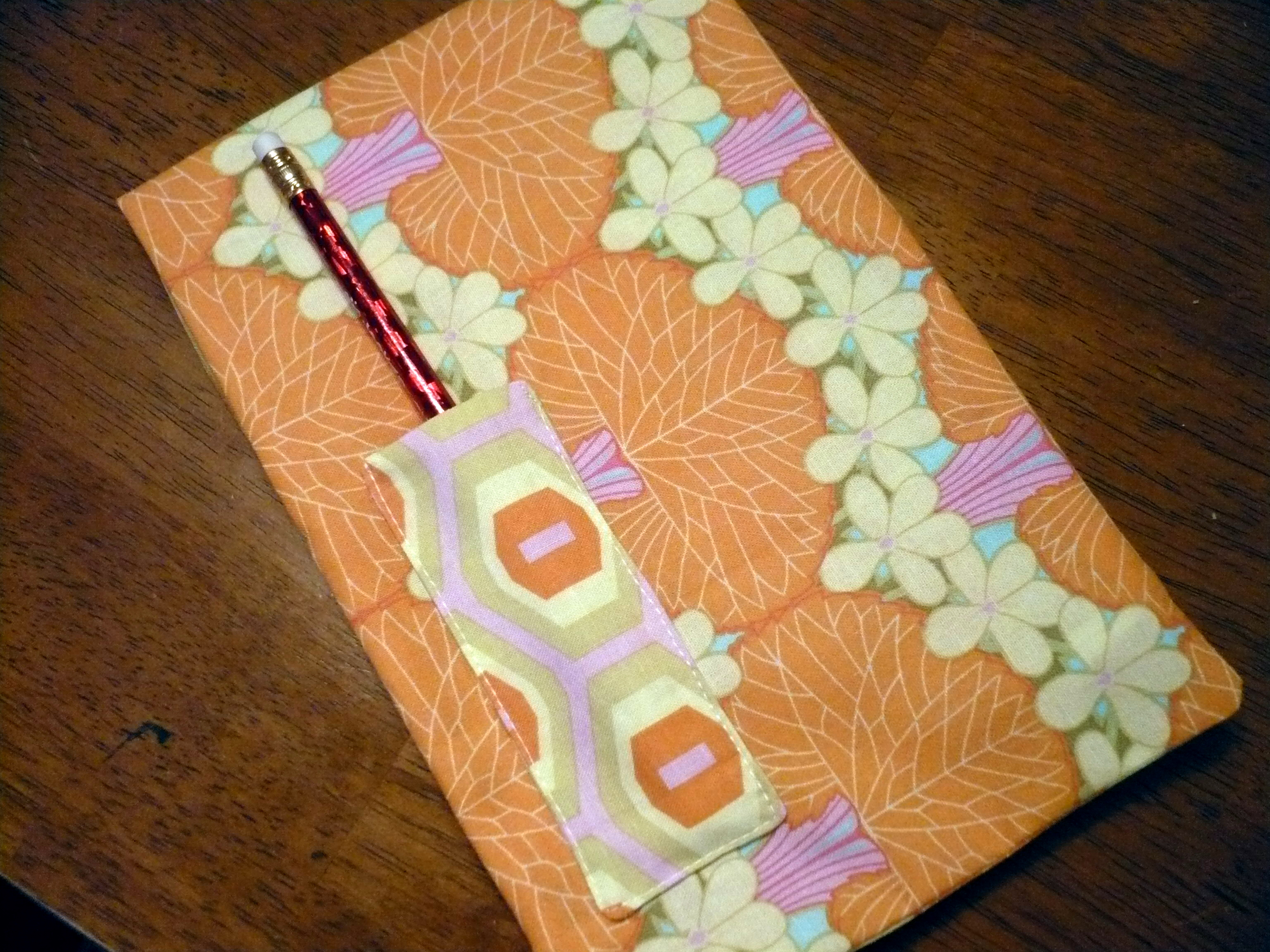 covered notepad