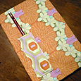 fabric covered notepad