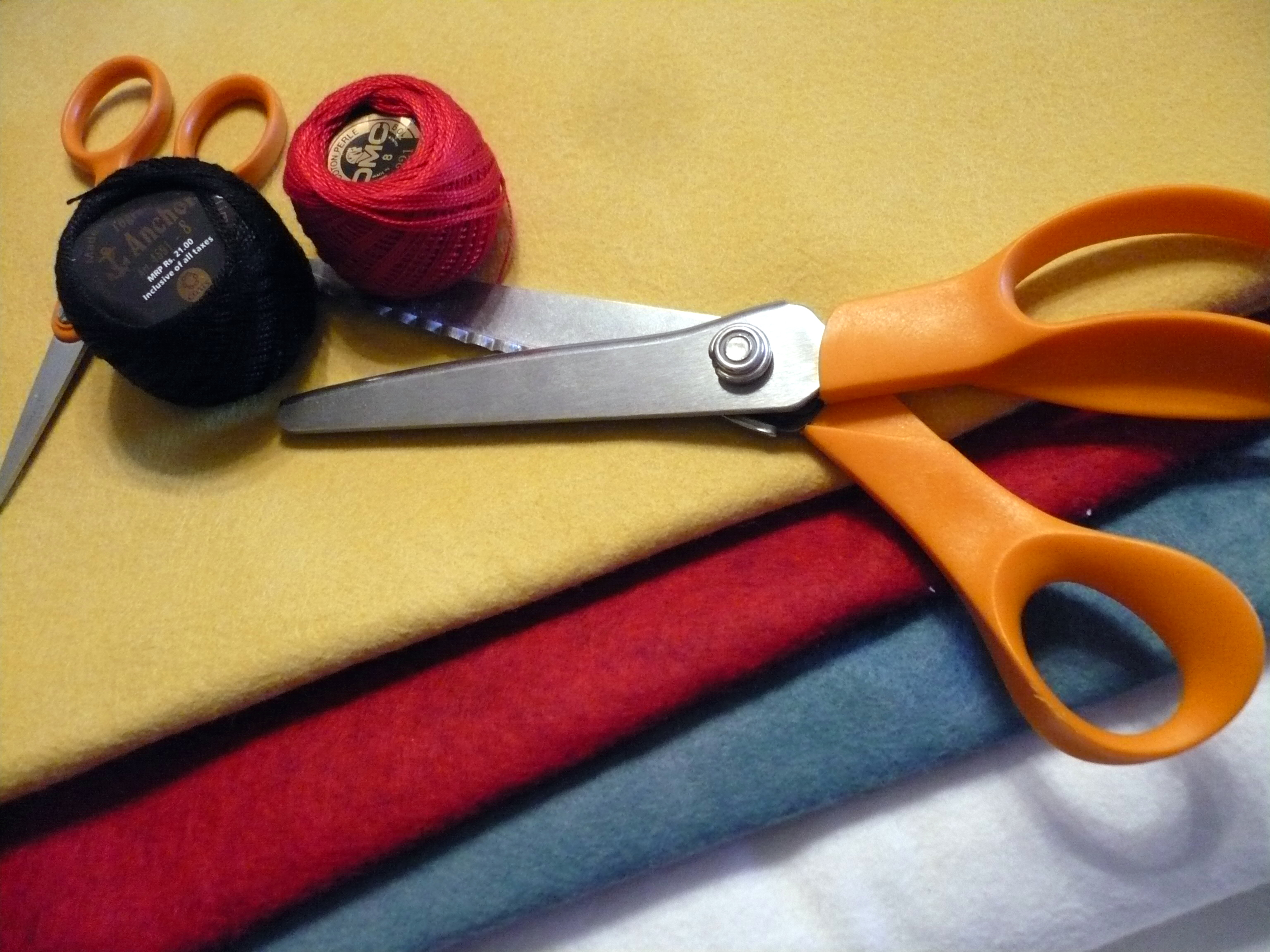 felt, thread & scissors