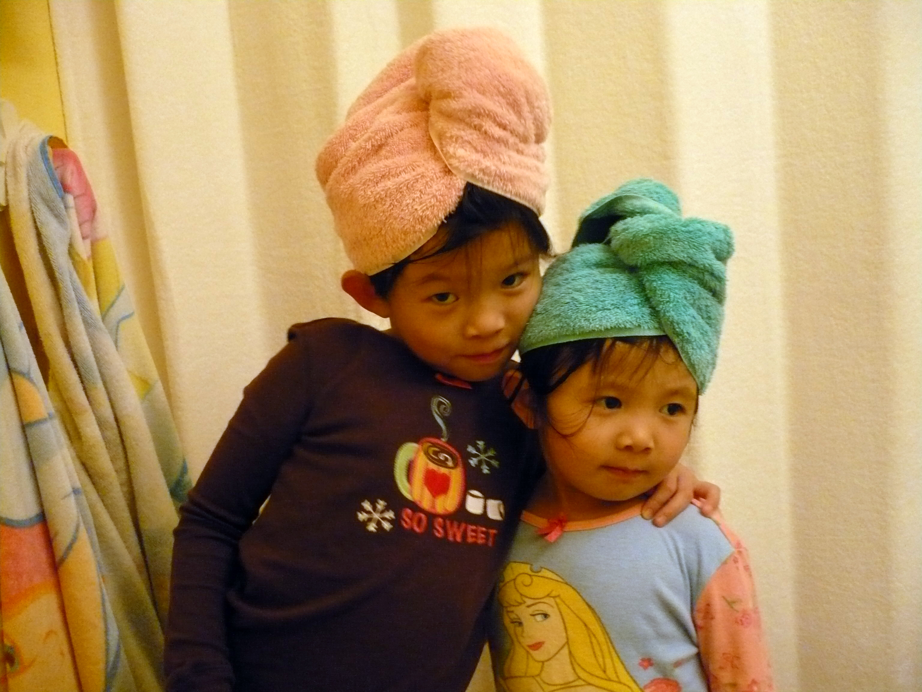 towel hair wraps