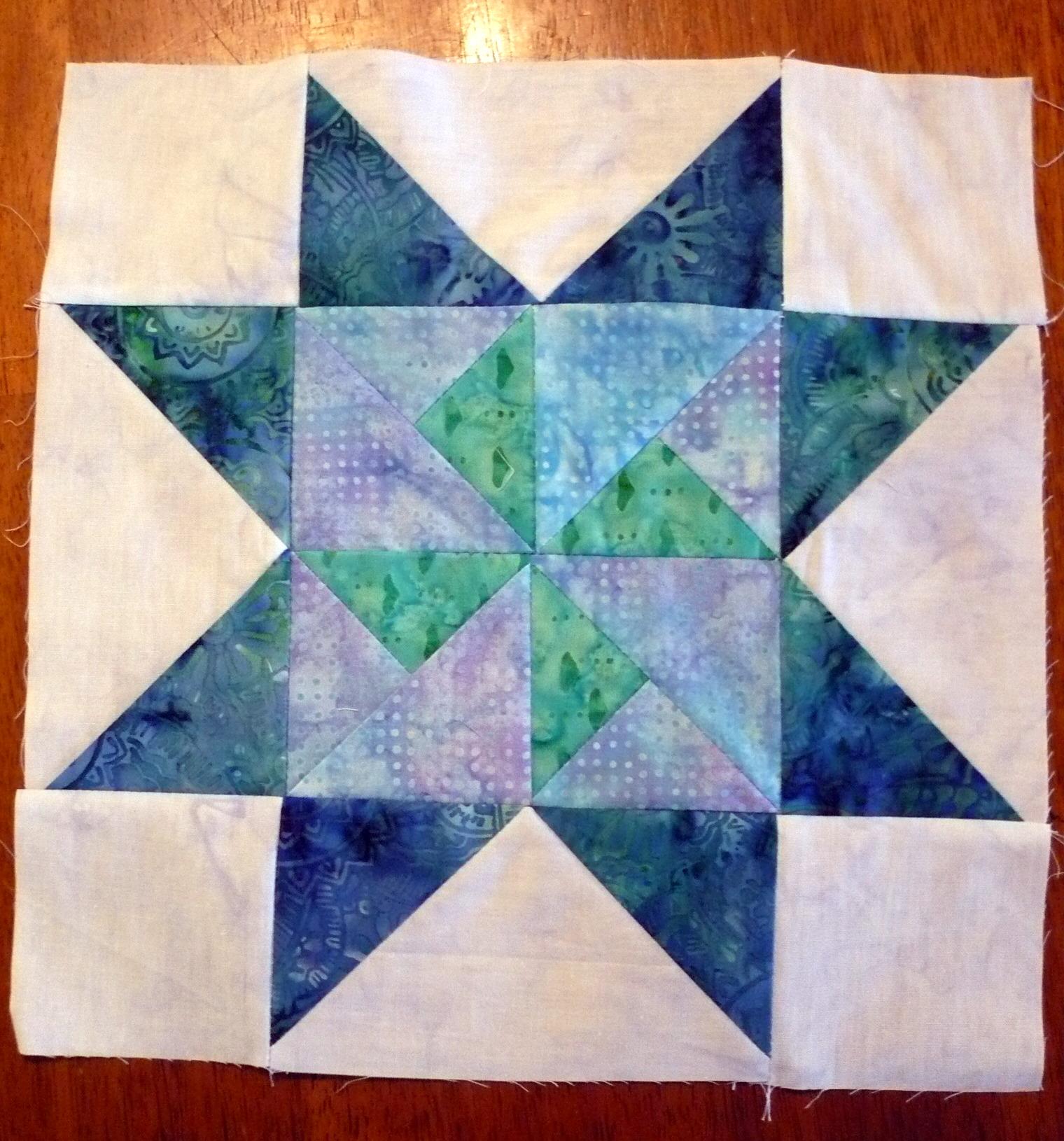 Block 6 blue batik
