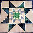 Block 8 blue batik