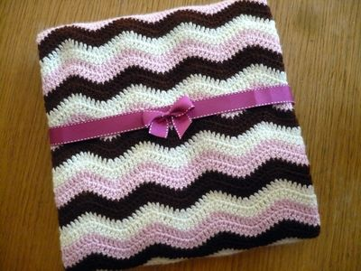 Neopolitan Ripple Crocheted Baby Blanket Pattern Greetingarts