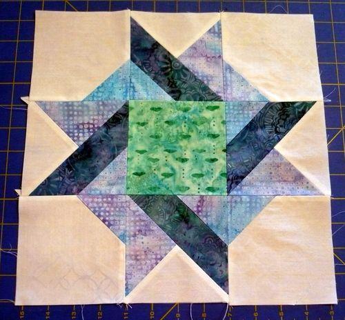 Block 7 blue batik