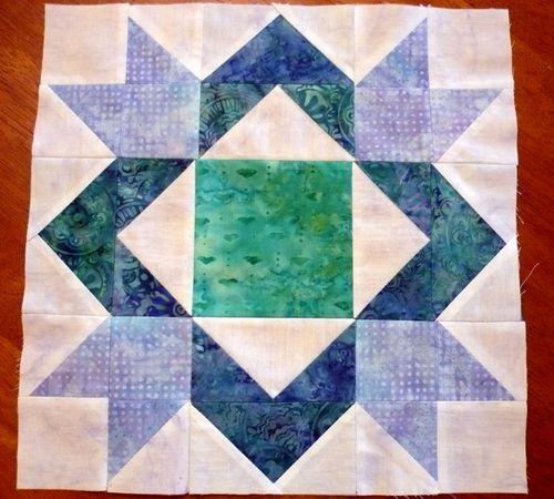 block 9 blue batik