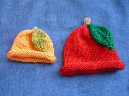 fruit preemie hats
